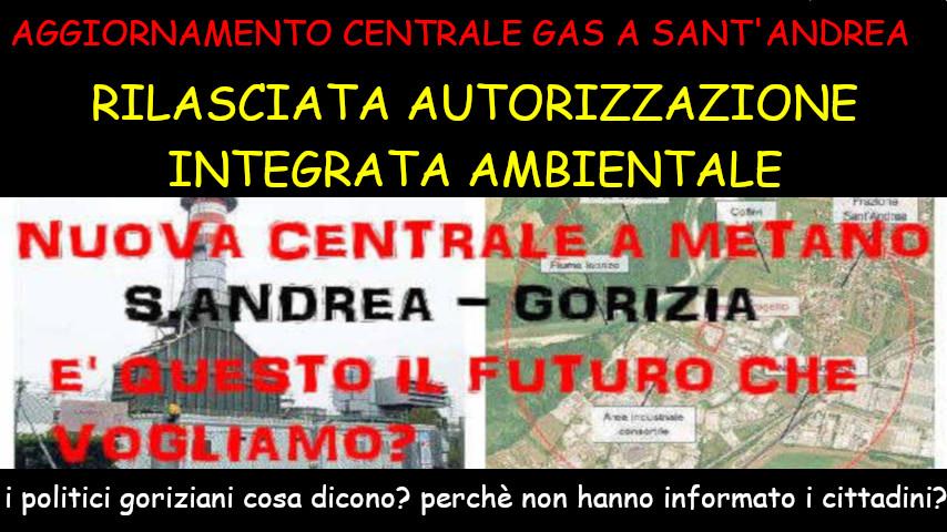 autorizzata la centrale a gas sant'andrea