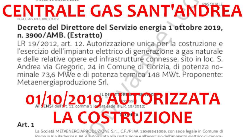 autorizzazione centrale gas gorizia